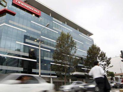 The Odebrecht headquarters in Lima (Peru).