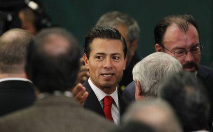 Mexico's President Enrique Peña Nieto on Monday.
