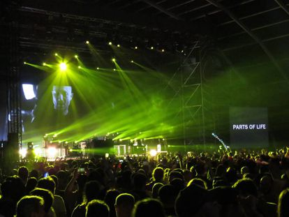 Paul Kalkbrenner at Mad Cool, on the stage where Massive Attack were due to play.