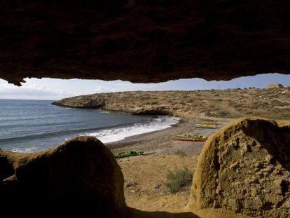 Cala Blanca beach in the Marina de Cope reserve.