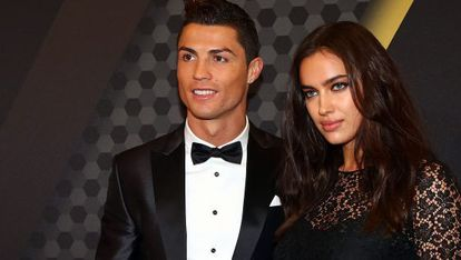 Cristiano Ronaldo and Irina Shayk while they were still dating.