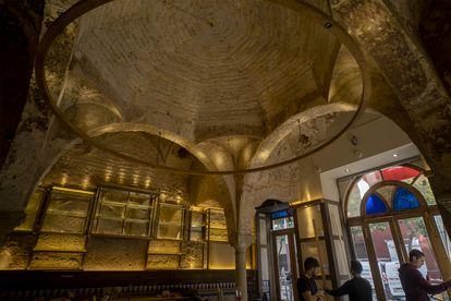 The 12th-century bathhouse discovered in the popular bar Cervecería Giralda, in Seville.