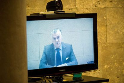 Ex-PP treasurer Luis Bárcenas appears in court via videolink on Friday