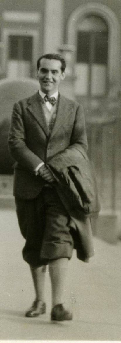 Federico García Lorca at Columbia University in New York in 1929.