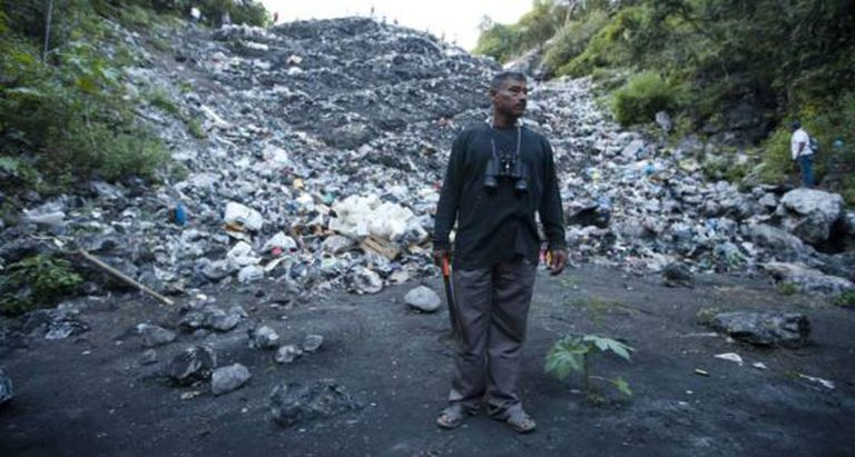 The father of one of the students at the Cocula trash dump.