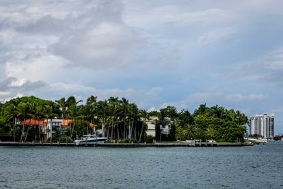 A view last month of the properties located on the southern side of Star Island, in Miami, Florida.