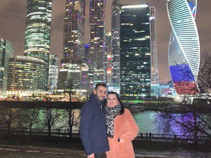 Lorenzo Bellone and Ksenia Rusanova, during a trip to Russia.