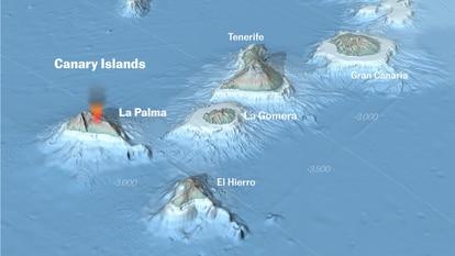 The underwater 'hotspot' feeding La Palma's volcano will create new islands