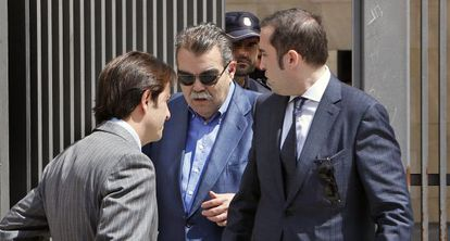 Juan Soler leaves court in Valencia on Wednesday after being questioned.