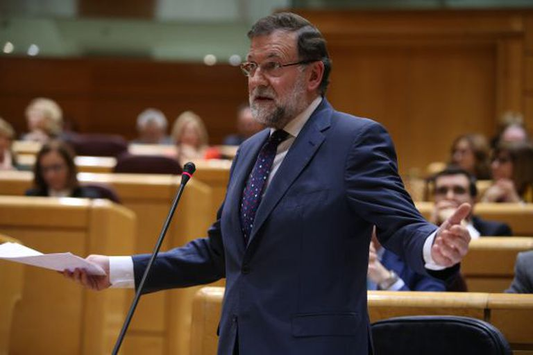 PM Mariano Rajoy, speaking in the Senate on Tuesday.