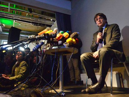Carles Puigdemont is awaiting a decision on his extradition to Spain.