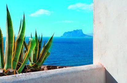 The view of the Mediterranean in Moraira (Alicante).