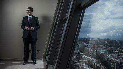 The president of Bankia, José Ignacio Goirigolzarri, at the company's headquarters in Madrid.