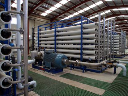 The Carboneras desalination plant in Almería province.