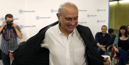 Fernández Díaz attends a PP meeting on Wednesday.