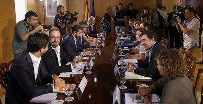 Negotiations between Ciudadanos and the Popular Party began on Monday.