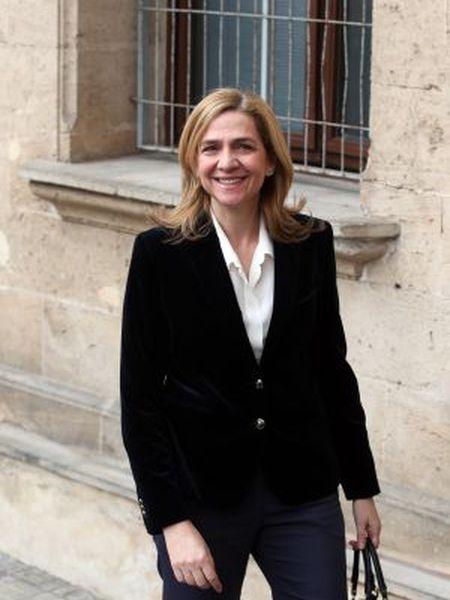 Princess Cristina arrives at the Palma de Mallorca courthouse on Saturday.