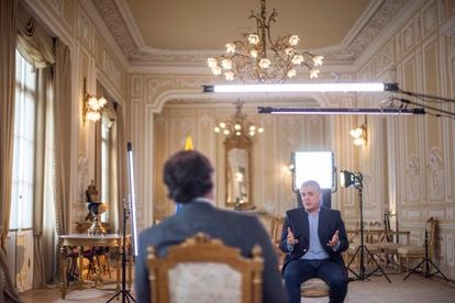 Colombian President Iván Duque, during the interview.