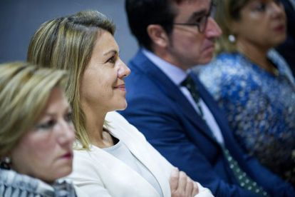 PP secretary general María Dolores de Cospedal in court on Friday morning.