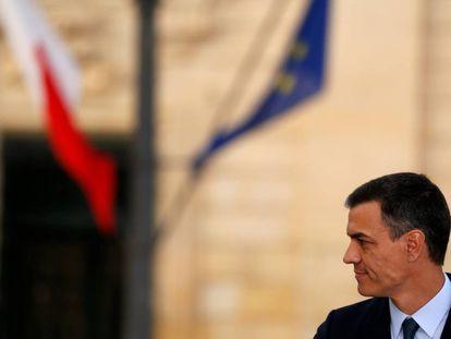Acting Prime Minister Pedro Sánchez last week in Malta.