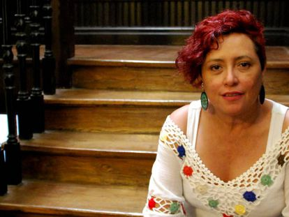 Montserrat Arévalo, from Mujeres Transformando (El Salvador), during her recent visit to Bilbao.