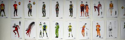 The different costumes that will be used in the show.