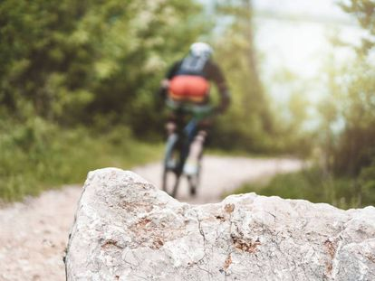 Rocks can become dangerous obstacles for mountain bikers.