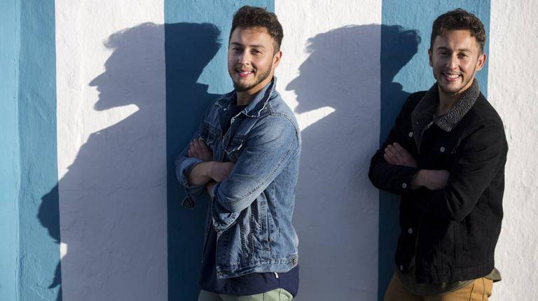 The brothers, Lucas and Mateo Ocón Zayas, in Málaga.