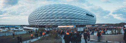 Allianz Arena, FC Bayern Munich's stadium.