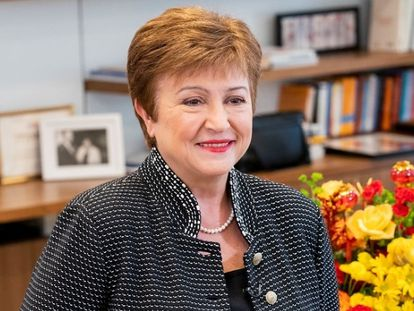 Kristalina Georgieva, the managing director of the International Monetary Fund, in a file photo from February.