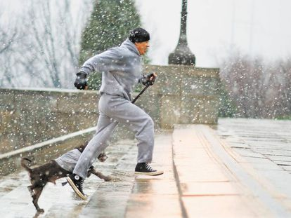 One of the most famous scenes from Rocky (1976), shot in Philadelphia.