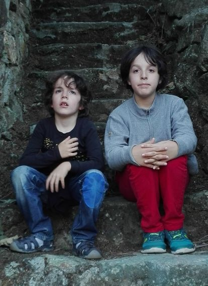 Blas and Leo, seven and 12, go to school in Madrid.