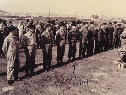 Official US Air Force photograph courtesy of Victor Skaar, fifth from left.