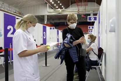 Vaccination drive in Bilbao in April.