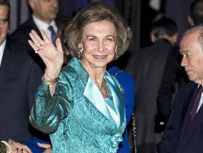 Queen Sofía, pictured last week in Madrid.