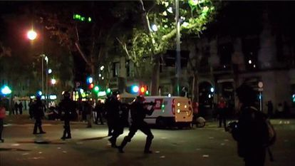 Video footage of riot police in the area where Quintana was wounded.