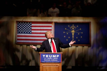 Donald Trump at a campaign event in Carmel, Indiana on Monday.