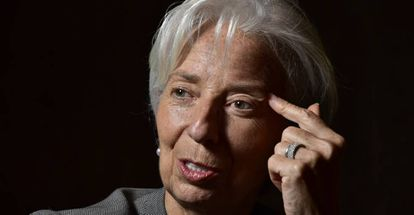 IMF director Christine Lagarde in Buenos Aires.