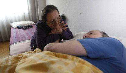 Blanca spends all her time looking after her son, who is recovering from a brain hemorrhage.