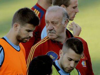 Spain train ahead of last week's friendly victory.