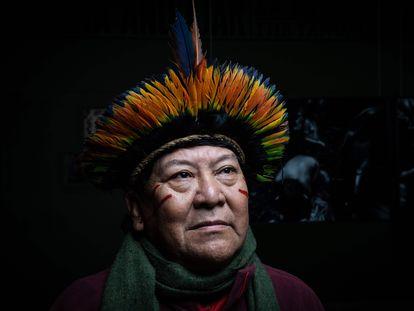 Brazilian Yanomami shaman Davi Kopenawa Yanomami.