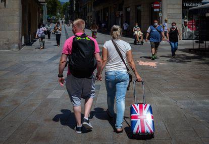 British tourists in Barcelona.