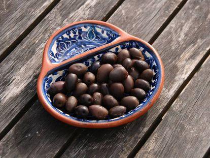 Home cured olives.
