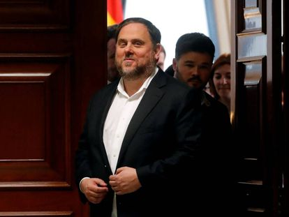 Jailed Catalan politician Oriol Junqueras in May.