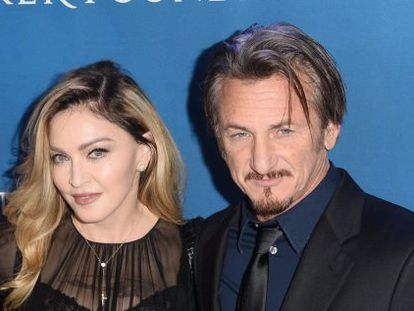 Actor Sean Penn during a benefit held to help Haiti.