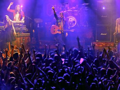 The Crystal Fighters perform at Sala But in Madrid.