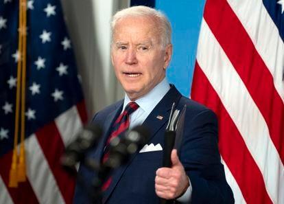 US President Joe Biden at the White House.