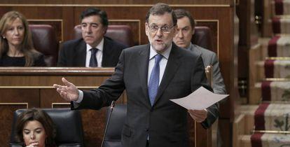 Rajoy y Sáenz de Santamaría en Congreso de los Diputados.