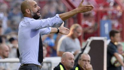 Guardiola during a cup game against Noettingen last weekend.