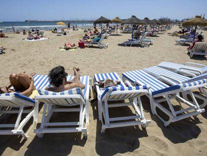 A beach in Spain's Valencia region.